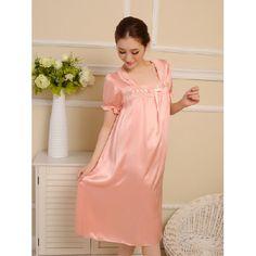 long nightgowns womens pajamas silk sleepwear silk pajama from pheonixling   PHL-060  - US 49.49   pheonixling 52619c70c