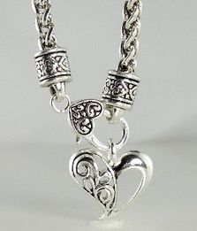 ~Silver Vintage Brighton Inspired Heart Charm Necklaces, Bracelets, and Earrings~ Under $32 with free shipping