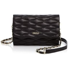 Dkny Gansevoort Quilted Nappa Small Flap Crossbody (€150) ❤ liked on Polyvore featuring bags, handbags, shoulder bags, black, crossbody handbags, black crossbody purse, dkny handbags, quilted crossbody and black handbags