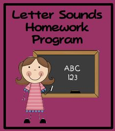 Letter sounds homework program