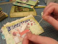 One of my viewers requested that I do a tutorial video on how I sew the signatures into the spine. not without some issues! Fabric Journals, Journal Paper, Journal Art, Art Journals, Vintage Journals, Scrapbook Journal, Scrapbook Albums, Homemade Books, Bookbinding Tutorial