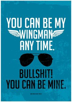 TOP GUN movie inspired Poster quote love print by PeanutoakPrint