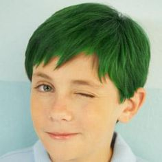 Green Hair Man