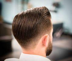 FETISH BARBER Mens Hairstyles With Beard, Slick Hairstyles, Hair And Beard Styles, Professional Hairstyles, Hairstyles Haircuts, Haircuts For Men, Haircut Men, Pompadour, Pelo Popular