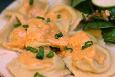 Lobster Ravioli with Crabmeat Cream Sauce - Don't let the pic fool you. It's really good. i found it a few years ago on foodnetwork, but they removed the recipe. I normally buy store bought lobster, crab or crawfish ravioli