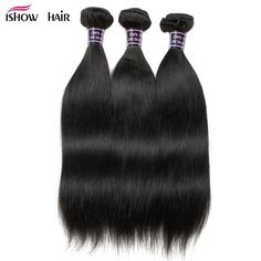 Luxe Diva Peruvian Hair Weave Bundles Straight Hair Human Hair Bundles With Closure Bleached Knots Non-remy Hair Extension Colours Are Striking Human Hair Weaves 3/4 Bundles With Closure