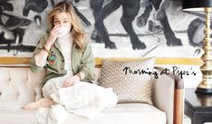 Piper Perabo's apartment--decorated with things she's brought home from her travels.