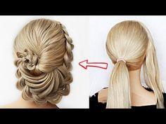 Cute Prom Hairstyles, Box Braids Hairstyles For Black Women, Heatless Hairstyles, Teenage Hairstyles, Great Hairstyles, Headband Hairstyles, Short Hairstyles, Updo, Braided Bun Styles