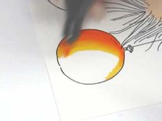 Copic Markers - Blending two colours - yellow to orange - bjl