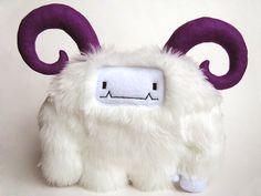 Plush Yeti Geoffrey the Yeti monster by curiouslittlebird on Etsy, $58.00