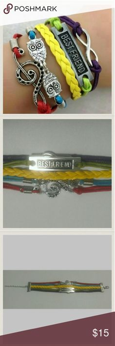Best Friend Cluster Bracelet This bracelet is brand new and would make a perfect gift for friend.   My home is smoke free and pet free.  Make sure you check out the other items in my closet to bundle for your discount.  I am open to all offers.  Happy POSHING! Jewelry Bracelets
