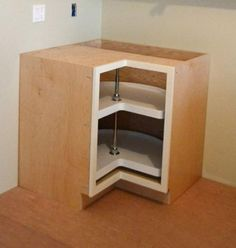 "Ana White | Build a 36"" Corner Base Pie Cut Kitchen Cabinet - Momplex White Kitchen 