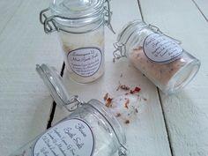 Bath Salt Wedding Favour in Clip Top Jar, Bath Salt Wedding Favors, Bath Salt Bonbonniere, Christening Bath Salt Gift, Baby Shower Bath Salt by MYMIMISTAR on Etsy