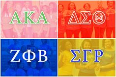 Sororities are about sisterhood, not just within a sorority by itself with other sororities. No other sorority is better than the other one. They all see each other as equal, even other people see that there is a difference between the four. Sigma Gamma Rho, Alpha Kappa Alpha Sorority, Zeta Phi Beta, Aka Sorority, Sorority And Fraternity, Sorority Girls, Black Fraternities, Divine Nine, Letter Organizer