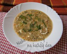 Recept Chlebová polévka s kořenovou zeleninou a vejci - Naše Dobroty na každý den Korn, Thai Red Curry, Ethnic Recipes