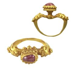 A Gold and Ruby Ring | Khmer | 14th Century