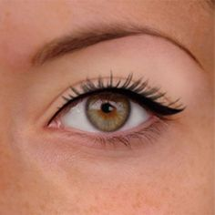 How To Apply Eye Liner Correctly. Love this winged eye. It is so perfect.