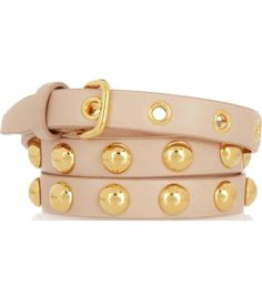 Blush lamb's leather gold stud buckle fastened belt. Comes in a designer pouch. Material: Leather. #Matchesfashion