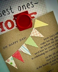 Love this idea for a card - sew on a pennant!