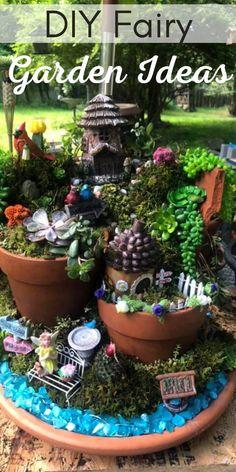 Kids Fairy Garden, Indoor Fairy Gardens, Fairy Garden Furniture, Fairy Garden Houses, Miniature Fairy Gardens, Tiny Furniture, Summer Garden, Garden Beds, Diy Fairy House