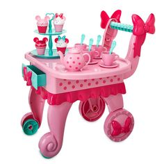 Product Image of Minnie Mouse Treat Cart Play Set # 1 Little Girl Toys, Cool Toys For Girls, Diy For Kids, Gifts For Kids, Minnie Mouse Cookies, Minnie Mouse Toys, Barbie Doll Set, Barbie Toys, American Girl Doll Sets