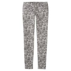 Mossimo Supply Co. Juniors Denim - Gray Floral
