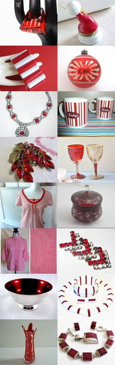 Vtpassion Team -  A CANDY CANE CHRISTMAS by Cathy on Etsy--Pinned with TreasuryPin.com