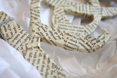 Virginia and Charlie: Book Page Ornaments