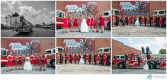 Laura + Josh had an amazing Michigan fire dpt. themed wedding! Check out the rest here!   Keyword: Michigan wedding photographer