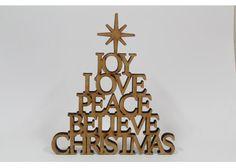 Lasercut MDF Christmas tree