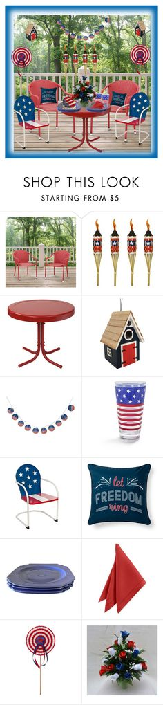 """memorial day  party"" by rpsounos ❤ liked on Polyvore featuring interior, interiors, interior design, home, home decor, interior decorating, TIKI, Crosley, Home Bazaar and Sur La Table"