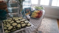 Gray and White Baby Shower