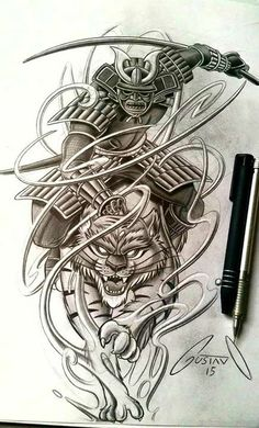 I want to tattoo a Japanese samurai to the back plan. I think I really like this photo. Mascara Samurai Tattoo, Tattoo Samurai, Samurai Drawing, Japanese Tattoo Art, Japanese Tattoo Designs, Japanese Sleeve Tattoos, Japanese Warrior Tattoo, Irezumi Tattoos, Arm Tattoos