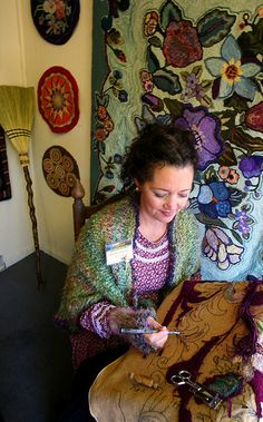 Making a Hook Rug by Laura ATL, via Flickr