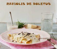 Atrapada en mi cocina: RAVIOLIS DE BOLETUS Y JAMÓN EN SALSA DE BOLETUS (PASTA CASERA)