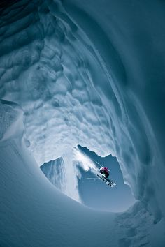 What a shot!  Freeskiing Back Country Freestyle - Whistler, BC, Canada  Athlete: Dan Treadway  — at Photograph by Eric Berger.