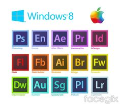 Adobe software icon vector