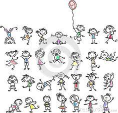 Bambini felici svegli del fumetto