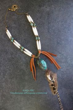 Collier style amérindien Abooksigun  par Tendancesethniques sur Etsy