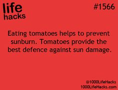 But I hate tomatoes. . . .