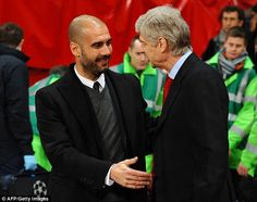 Guardiola (seen meeting Arsene Wenger in 2011) won't try and emulate the Arsenal boss