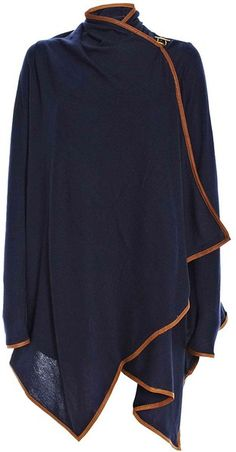 Ralph Lauren Wrap Sweater....love, the closure & piping detail.... Lyst