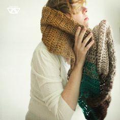 ombre crochet cowl shawl scarf decent | Fler.cz