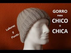 Como tejer un gorro unisex -para chica o chico- muy fácil en dos agujas - YouTube Knitting Projects, Loom, Unisex, Knitted Hats, Knit Crochet, Creative, Crafts, Youtube, Beret