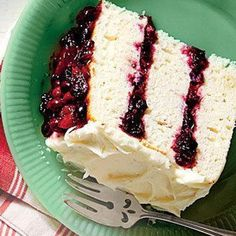 White Cake with Cranberry Filling & Orange Buttercream - Another truly decadent cake that will be the hit of any party, hands down. I'm going to be busy in January! Recipe & Photo: Southern Living Magazine 12-16-14