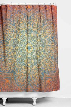 Magical Thinking Glow-Medallion Shower Curtain