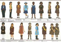 Vintage Brownie Guide/Scout uniforms from around the world.