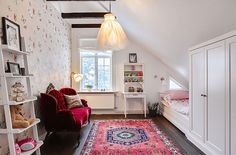 love the idea of converting the master bedroom in the attic into a nursery/child's room- gives us about 5 more years in the house before we move to a bigger one