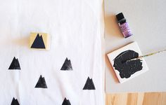 Make your own block print blanket with fabric paint + stamps: MerMagHandStampedSwaddleBlankets2 by mer mag, via Flickr