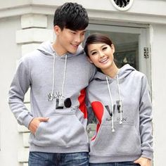 Heart Print Hooded Couple Pullover from #YesStyle <3 Porspor YesStyle.com
